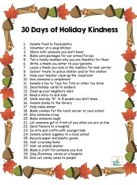 Raising Kind Kids: 30 Acts Of Holiday Kindness