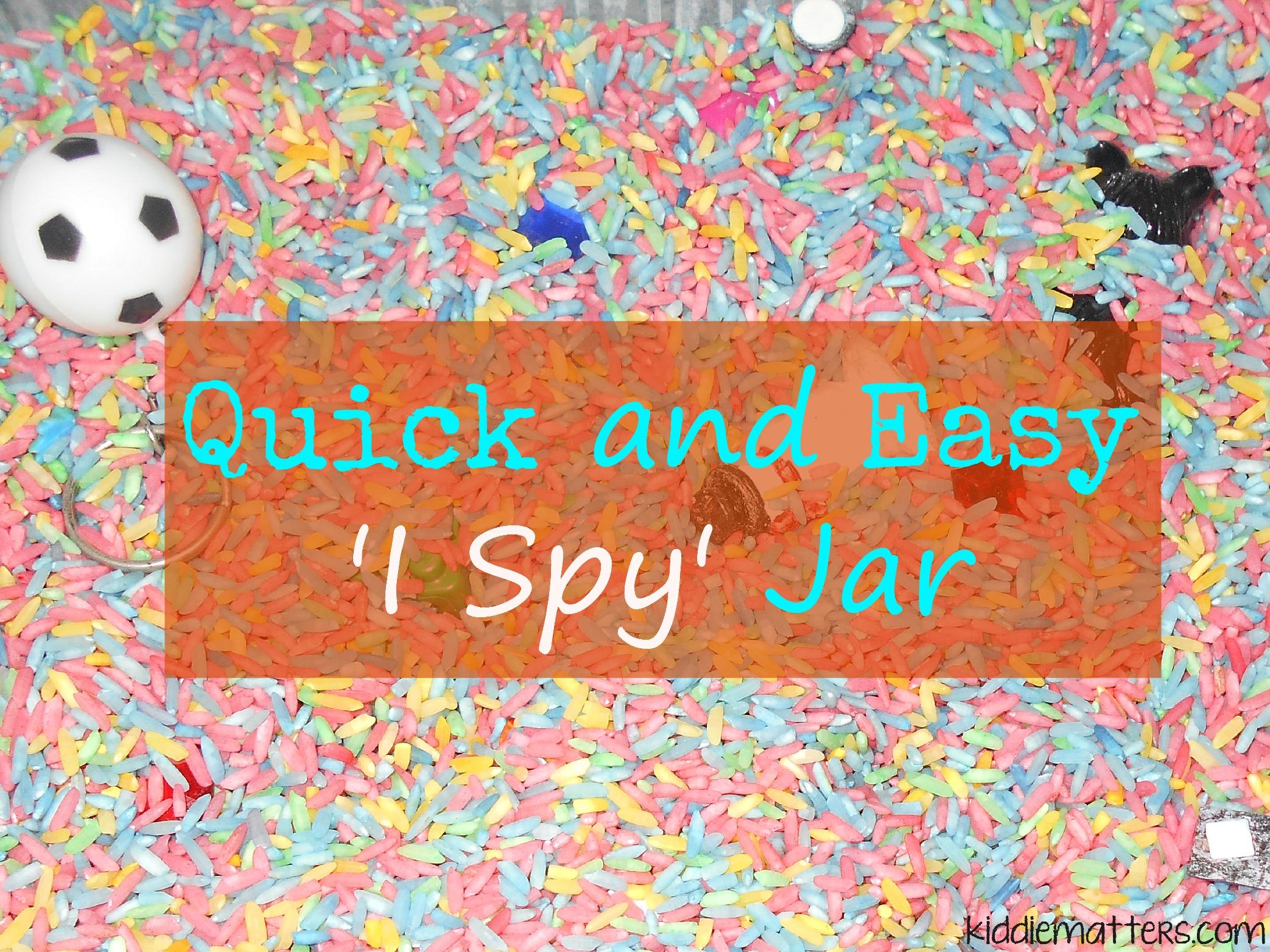 How To Make an I Spy Jar