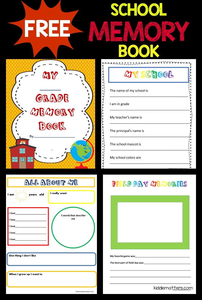 Free School Memory Book Printable