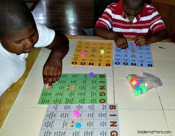 kids playing bingo pic monkey