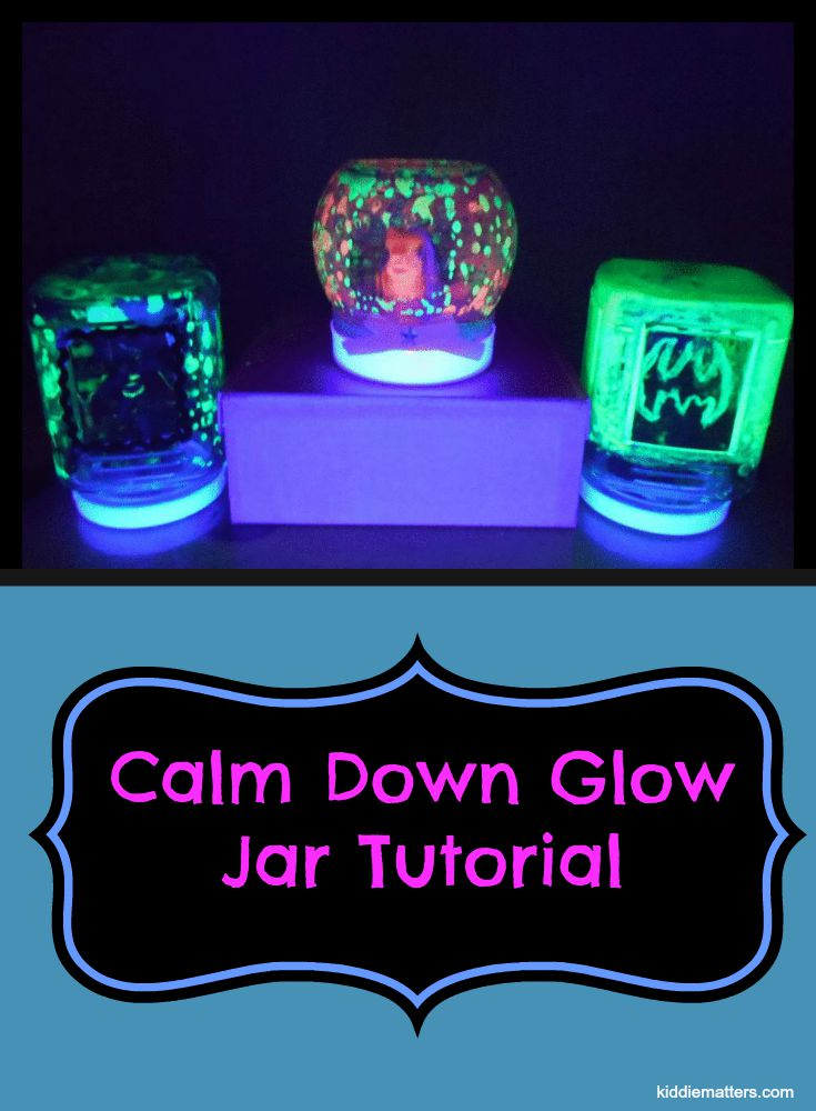 How To Make A Calm Down Glow Jar-kiddiematters.com
