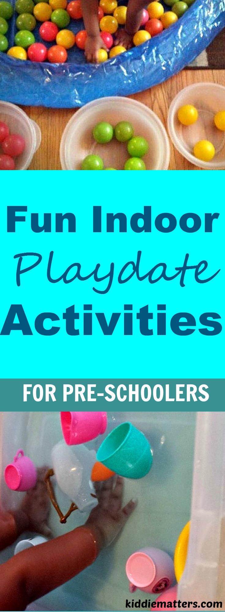 Fun Indoor Playdate Activities For PreSchoolers
