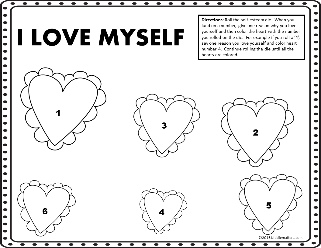 SelfEsteem Building Activities for Kids Kiddie Matters – Self Esteem Worksheets for Kids