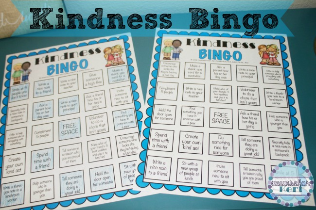 Freebie Friday Kindness Bingo