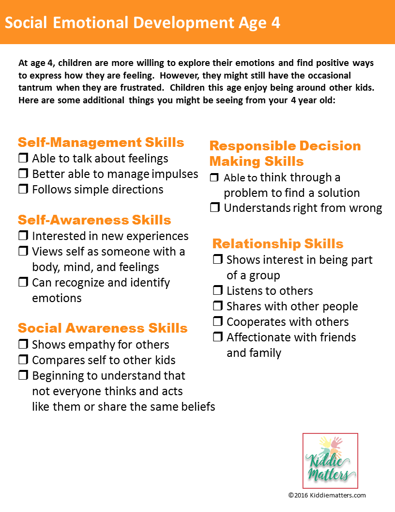 Social Emotional Development Checklists For Kids And Teens on Preschool Developmental Milestones