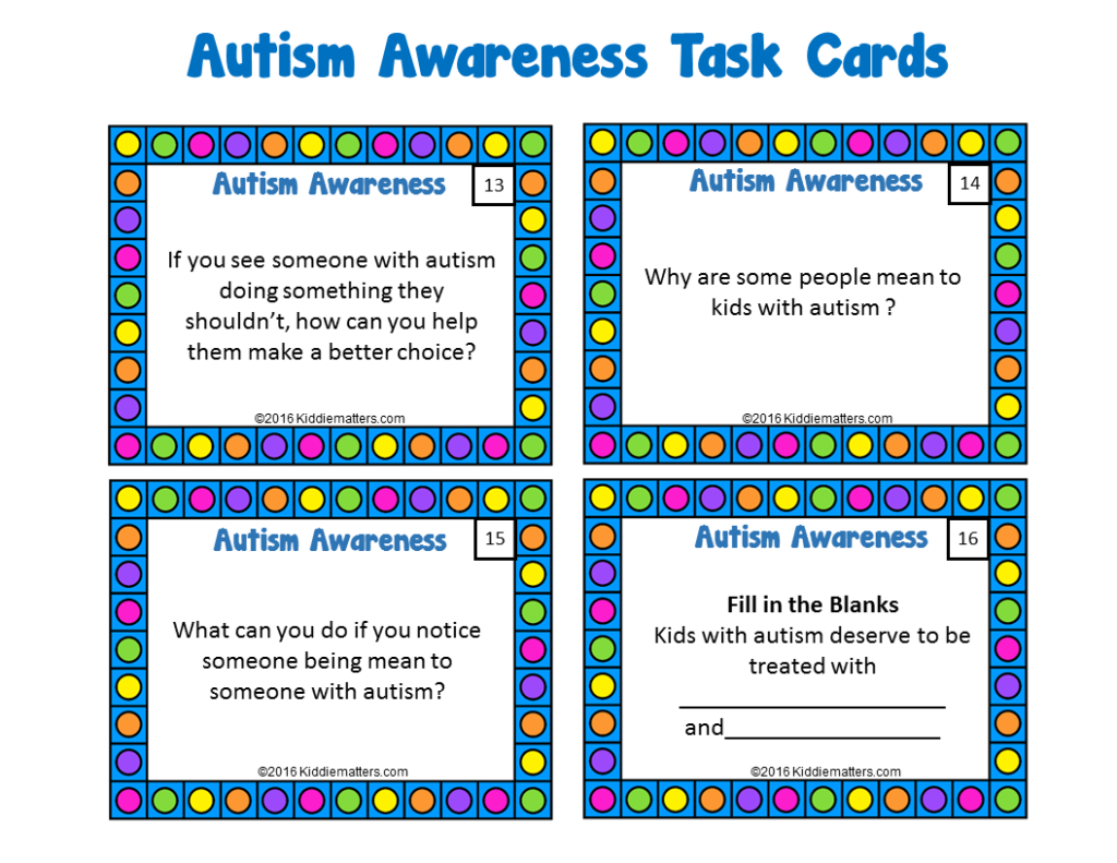 Autism Awareness Task Cards