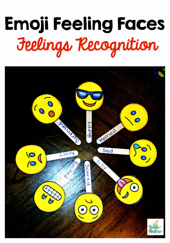 Emoji Feeling Faces Feelings Recognition on Fun Worksheets For Kids