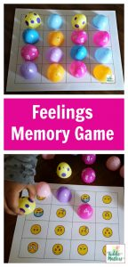 Plastic Easter Egg Feelings Memory Game