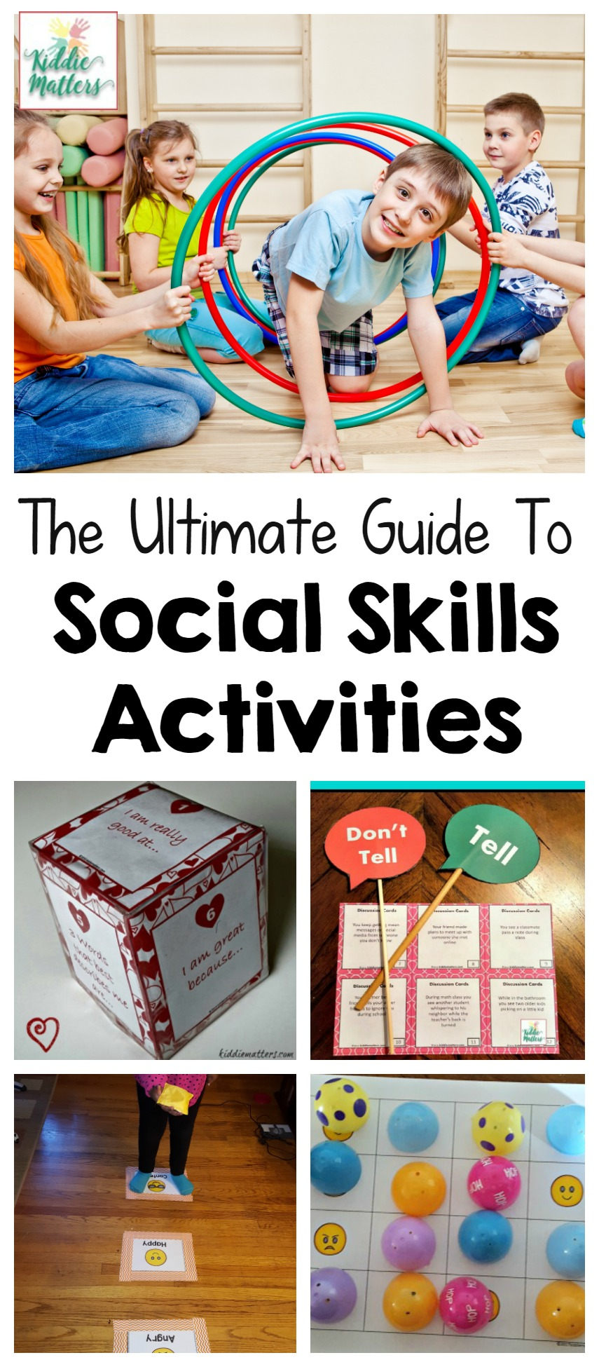 Social skills activities to teach children empathy, how to make friends, how to take turns, and more! #socialskills #empathy #schoolcounseling #counseling