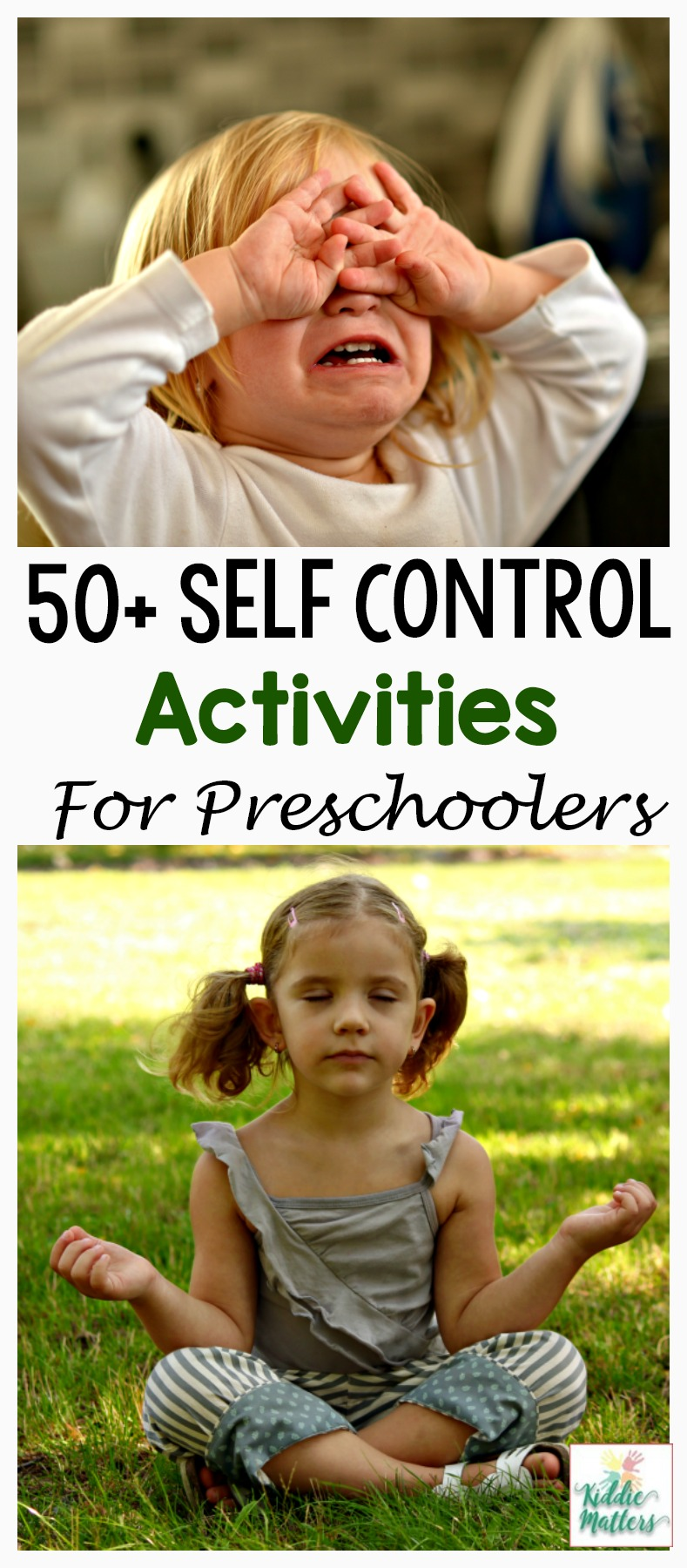 Teach preschool children how to manage big emotions with these self control activities. Many preschoolers have a hard time managing big emotions. However, once they learn the right tools to deal with their feelings, you'll see a decrease in temper tantrums, whining, and acting out behaviors.