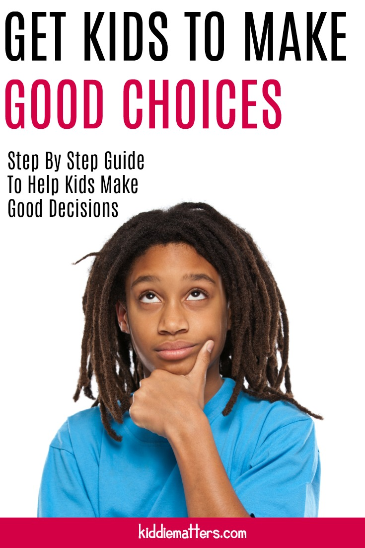 Step by step guide for teaching kids the decision making process steps. This article includes a free printable worksheet to help kids practice using the decision making process. You can use the six scenarios provided or kids can come up with scenarios of their own. #schoolcounseling #positiveparenting #parenting #education #counseling