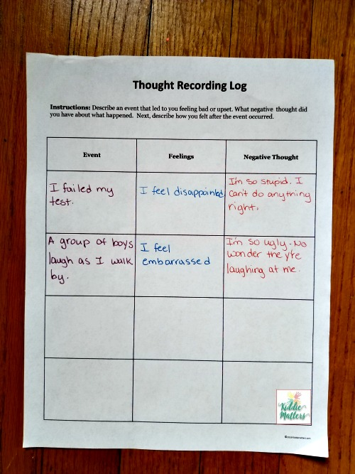 Negative Selftalk How To Catch It Challenge And Change. Worksheet. Negative Self Talk Worksheet At Clickcart.co
